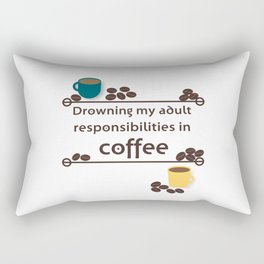 Drowning in Coffee Rectangular Pillow