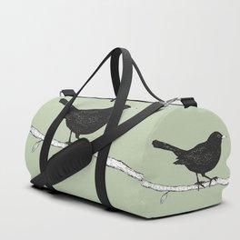 Blackbird pen drawing Duffle Bag