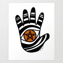 Pentacle Hand Art Print