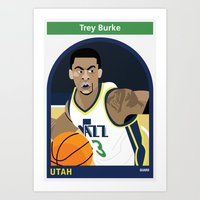 alisa burke Art Prints featuring Trey Burke by Everyplayerintheleague