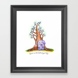 Root of Being Framed Art Print