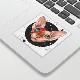 Sphynx Bowie Sticker