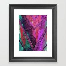 Purple Chevron Trippyness Framed Art Print