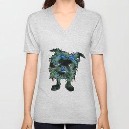 Lugga The Friendly Hairball Monster For Boos Unisex V-Neck