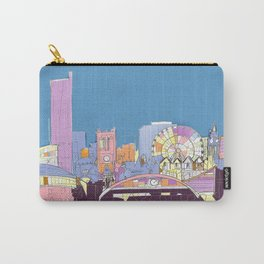 Manchester Skyline Opera House Hilton Hotel Railway City Town Hall England GB UK Carry-All Pouch