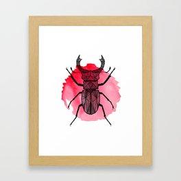 KHK Beetle Framed Art Print