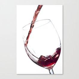 Elegant Red Wine Photo Canvas Print