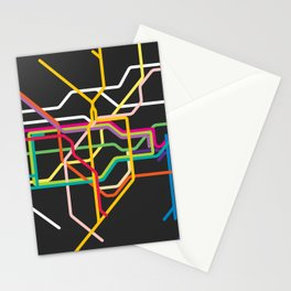 london metro map Stationery Cards