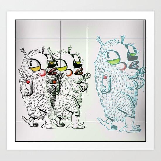 Puffies Art Print