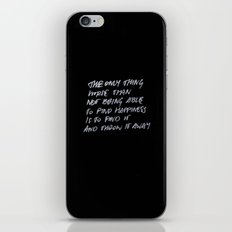 Throw Away iPhone Skin