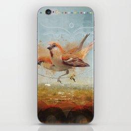 Kathmandu Cinnamon Sparrows iPhone Skin