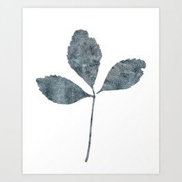 Blue Leaf, No. 2 Art Print