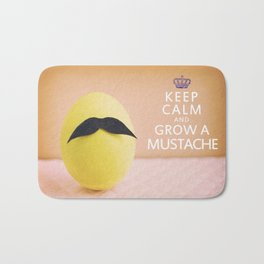 Keep Calm & Grow A Mustache Bath Mat