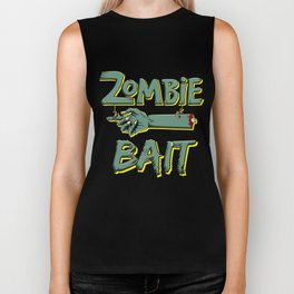 Zombie Bait Scary Halloween Chopped Pointing Limb Dark Light Biker Tank