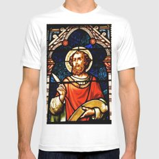 Saintly Glass White Mens Fitted Tee MEDIUM