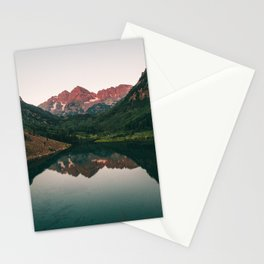 Maroon Bells Sunrise Reflection Stationery Cards
