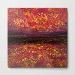 Lake of fire Metal Print