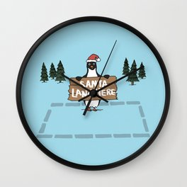 Christmas Penguin Wall Clock