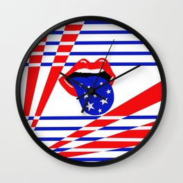 Star Spangled Love Wall Clock