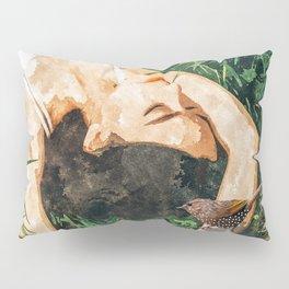 Jungle Vacay #painting #portrait Pillow Sham
