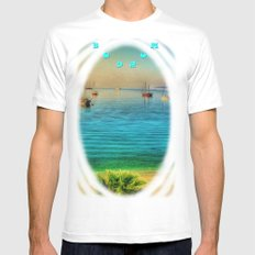 Bodrum MEDIUM White Mens Fitted Tee