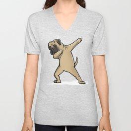 Funny Dabbing Bullmastiff Dog Dab Dance Unisex V-Neck