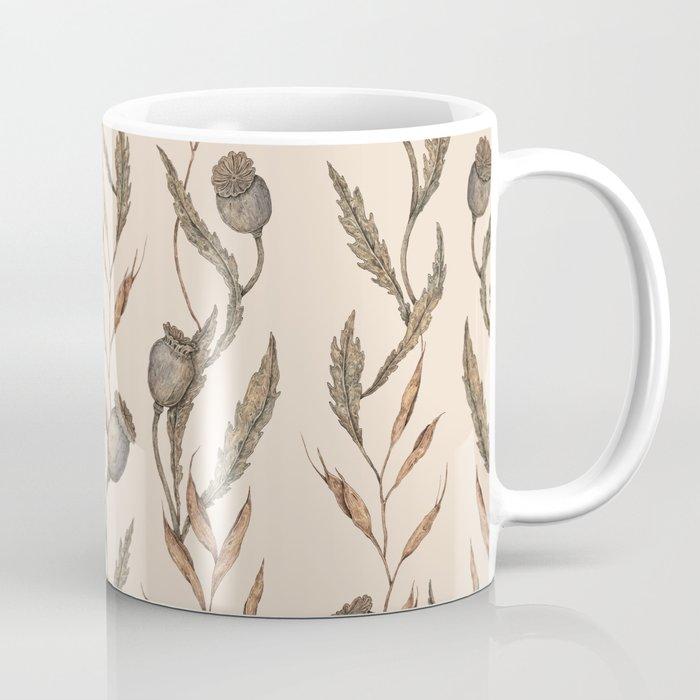 Poppy Pod Pattern Coffee Mug