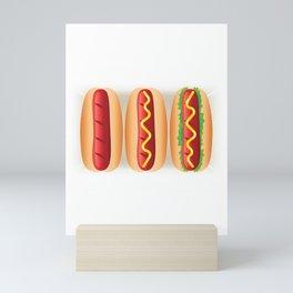 Hot Dog Sandwiches Mini Art Print
