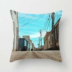 Alley architecture Throw Pillow