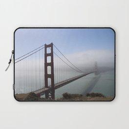 Golden Gate Bridge On A Foggy Morning Laptop Sleeve