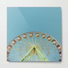 Ferris wheel ride on a sunny day at the Marin County Fair in San Rafael Metal Print