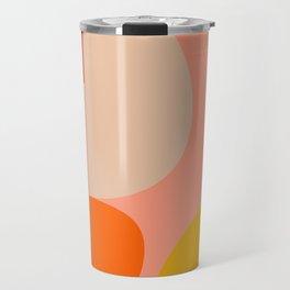 geometry shape mid century organic blush curry teal Travel Mug