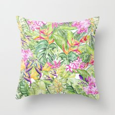 Tropical Garden 1A #society6 Throw Pillow