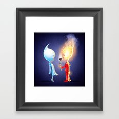 Flameo and Dropliette Framed Art Print