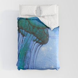 Blue Glow Jelly Fish Comforters