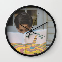 Places you'll go Wall Clock