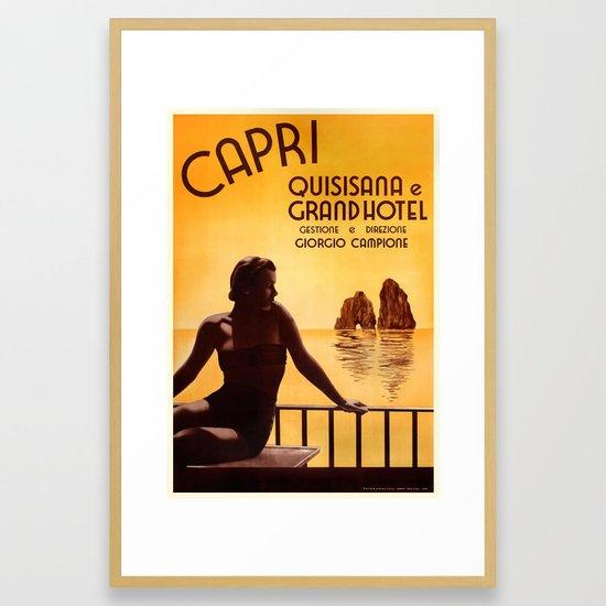 Italy 1938 Capri & The Grand Hotel Quisisana Advertising ...