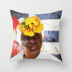 Smoking #3 - Caribbean Serie Throw Pillow