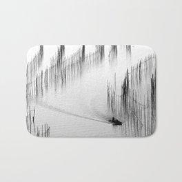 Fishing and Bamboos Bath Mat