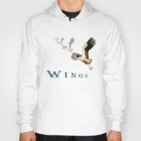 wings Hoodies featuring Wings by Avigur