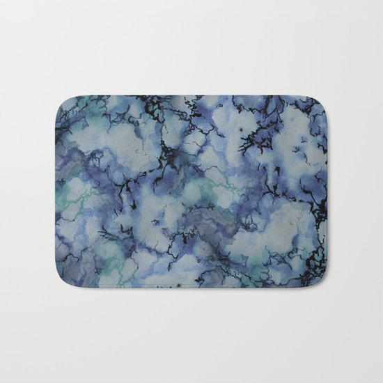 Blue Marble Bath Mat