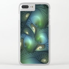 Where Spirals Live Clear iPhone Case
