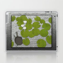 Water lilies with Florida Soft-shell Turtle Laptop & iPad Skin