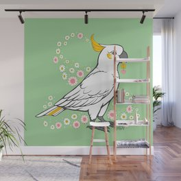Fluffy The Sulphur Crested Cockatoo Wall Mural