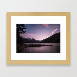 Twin Lakes Sunset Framed Art Print