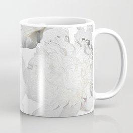 Pretty White Peonies Coffee Mug
