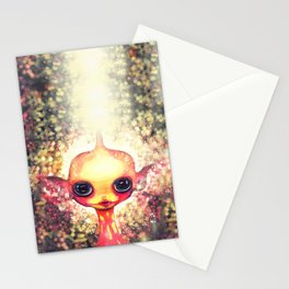 Moonbeams and Coral Stationery Cards