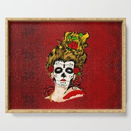 The Dead Skull Face Painting Serving Tray