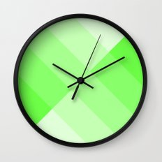 green and white gradient 3 Wall Clock