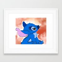stitch Framed Art Prints featuring STITCH  by Taylor Perren